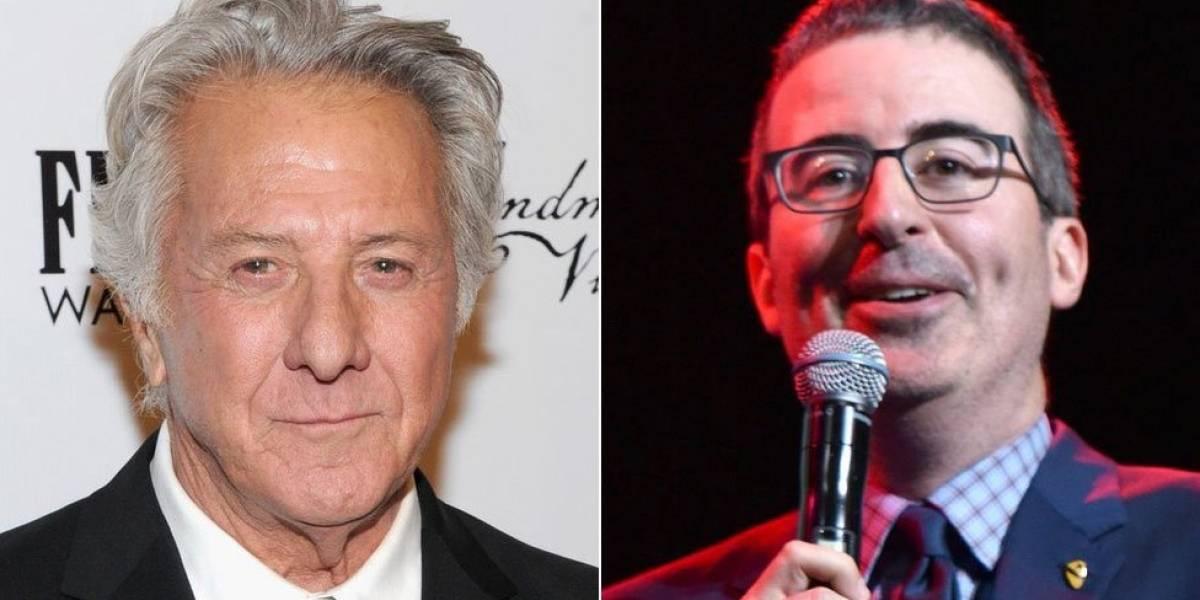 """""""¿Te crees todas esas cosas?"""": la tensa discusión entre Dustin Hoffman y el presentador John Oliver sobre las acusaciones de acoso contra el actor"""