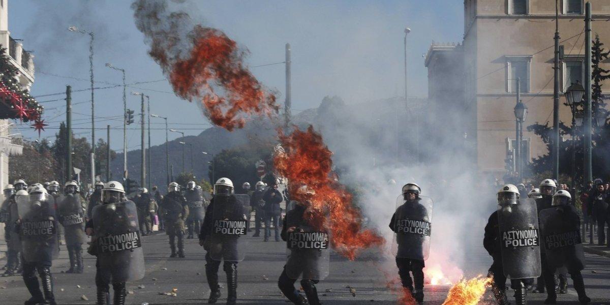 Arrestan a 22 personas en Grecia tras manifestaciones
