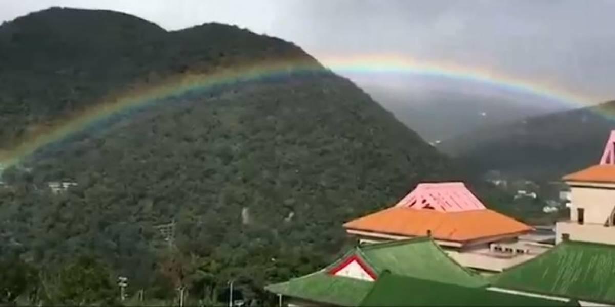 ¡Impresionante! Un arcoiris de 9 horas en Taiwán bate récord mundial