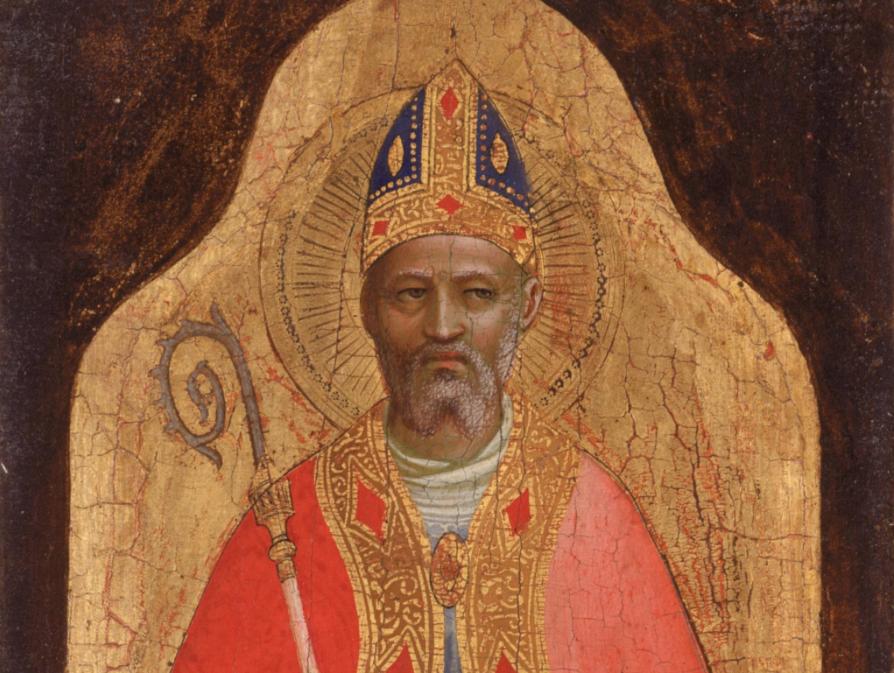 San Nicolás de Bari, evocado en una pintura de Fra Angélico.