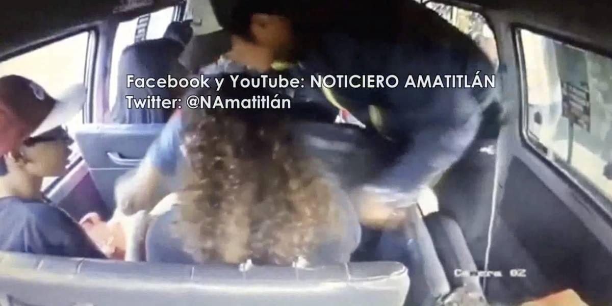 Con un video en Facebook denuncian a asaltantes de un microbús en Villa Nueva