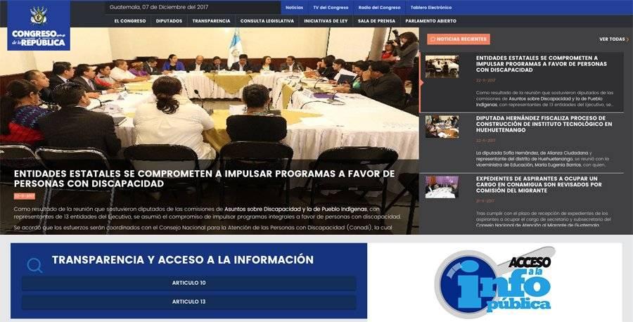 Nuevo sitio web Congreso