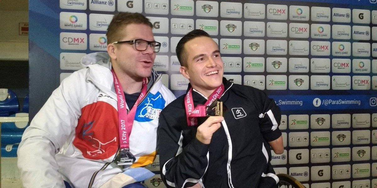 Gustavo Sánchez gana oro en Mundial de Para-Natación