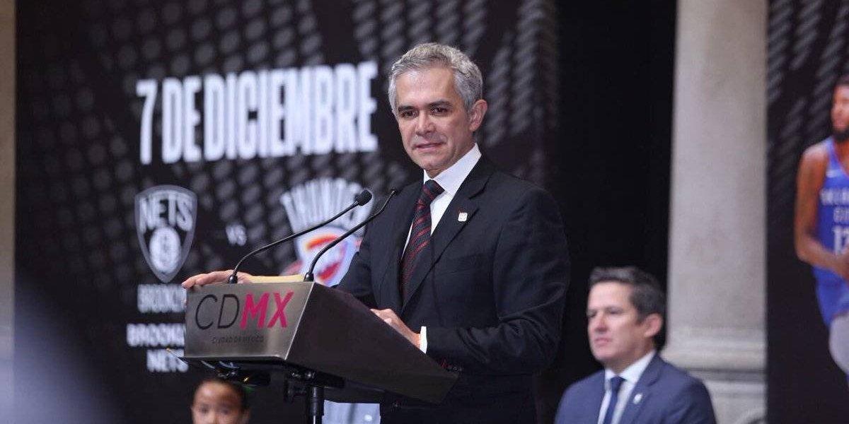 Mancera desea que CDMX sea sede permanente de la NBA