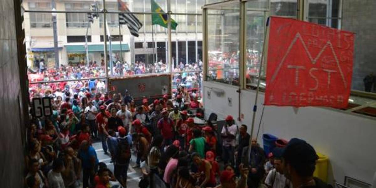 MTST ocupa sede da Secretaria da Habitação de São Paulo
