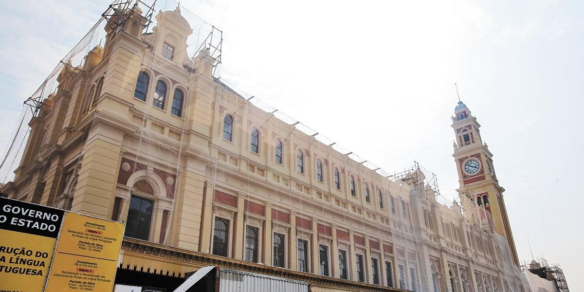 Auditório Simón Bolívar e Museu da Língua Portuguesa têm obras entregues depois dos incêndios que os destruíram
