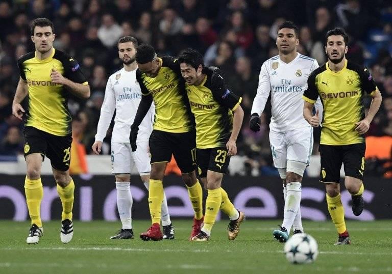 Gol del Borussia Dortmund contra el Real Madrid