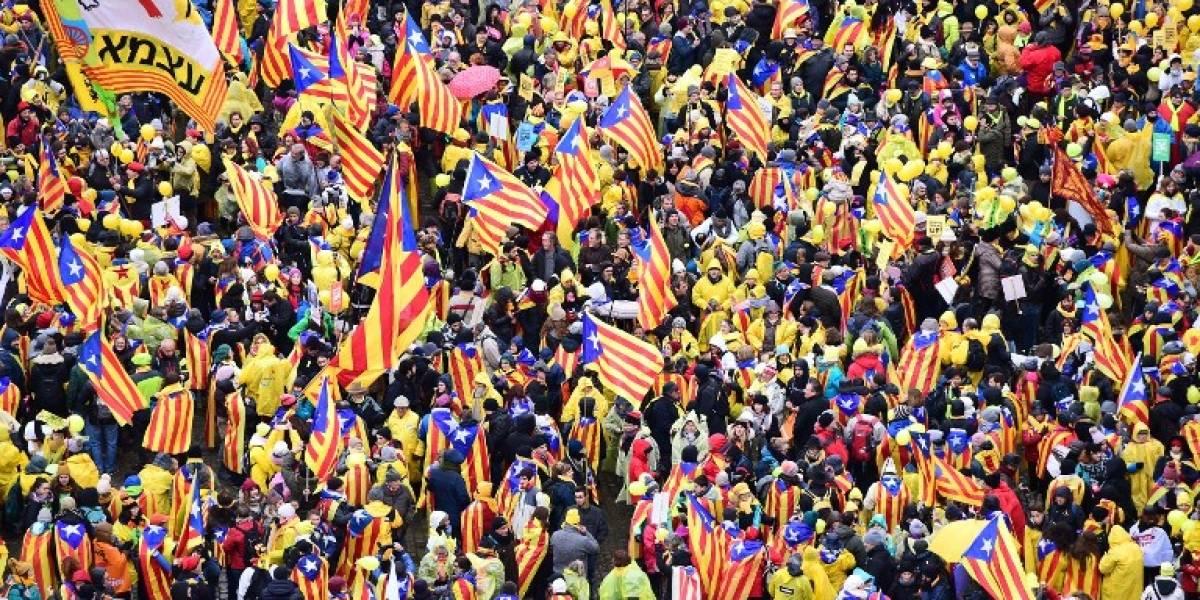 45 mil independentistas catalanes se toman las calles de Bruselas para llamar la atención de la Unión Europea