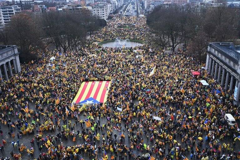 Catalanes bruselas
