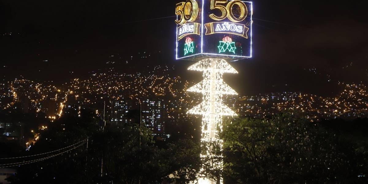La ruta para visitar los alumbrados navideños de Medellín en sus 50 años