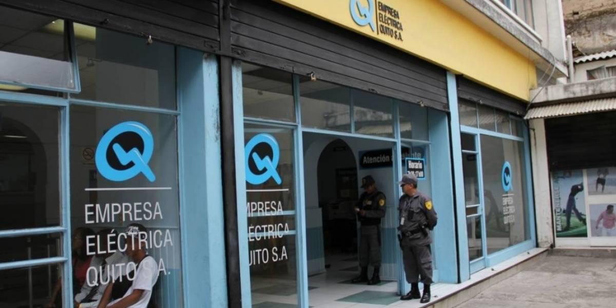 Se suspende la atención en nueve agencias de la Empresa Eléctrica Quito