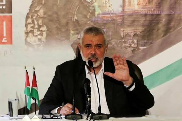 Ismail Haniye, jefe político del movimiento islamista Hamás