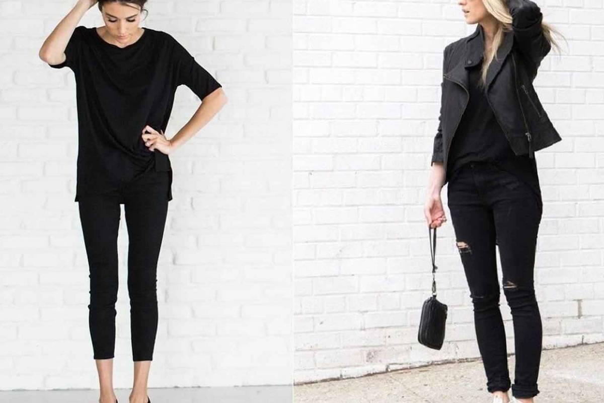 Look vestido negro noche