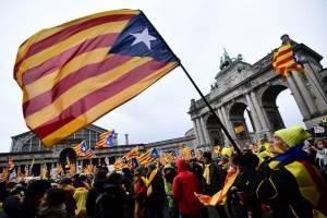 Marcha en Bruselas por Cataluña