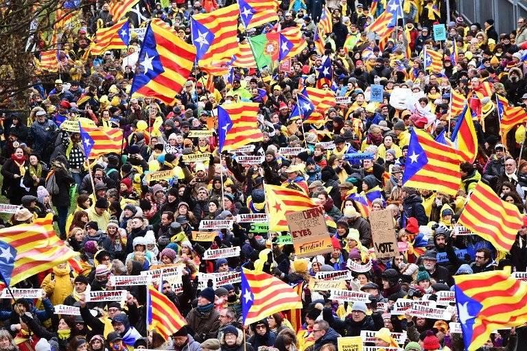 Manifestación por Cataluña en Bruselas