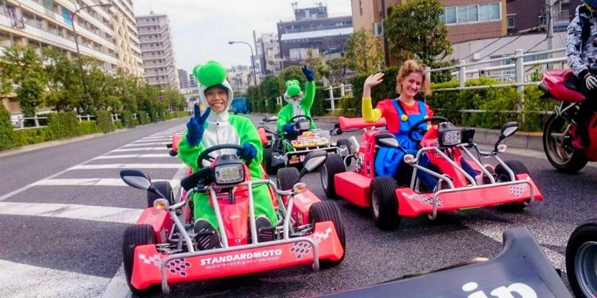¿Imitar a Super Mario en las calles? Claro, pero con cinturón de seguridad