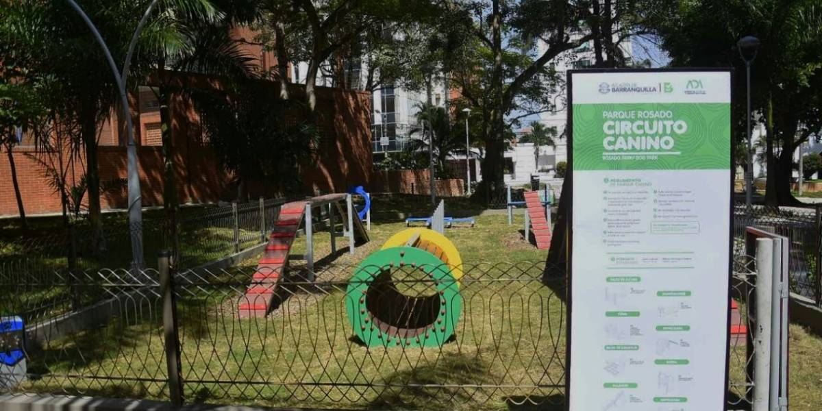 Abren primer parque para pasear perros en Barranquilla