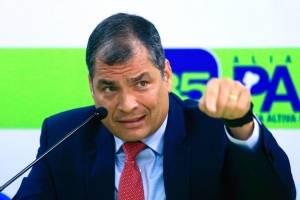 Rafael Correa habla de la 'destitución' de Glas