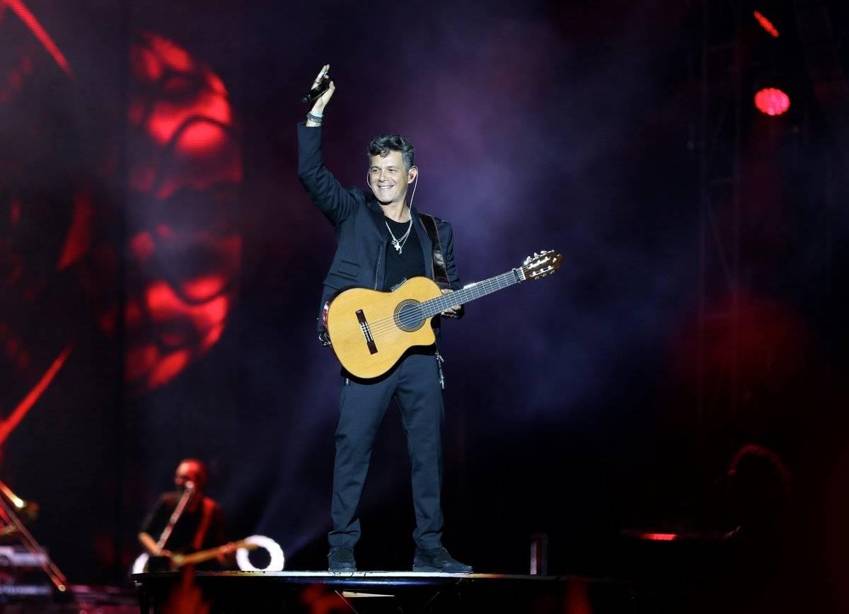 En el concierto de Alejandro Sanz