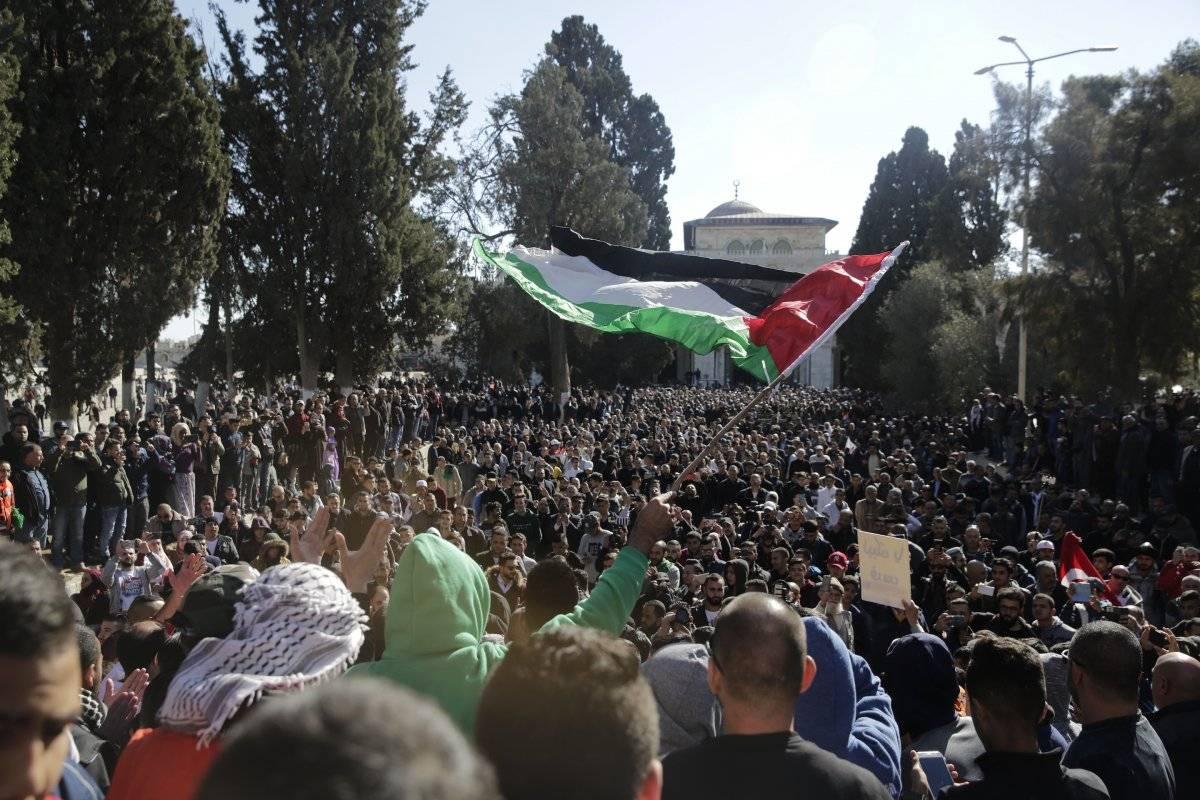 En la mezquita de al-Aqsa, en Jerusalén Foto: AP