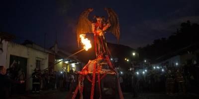 Quema del Diablo en el Barrio de La Concepción