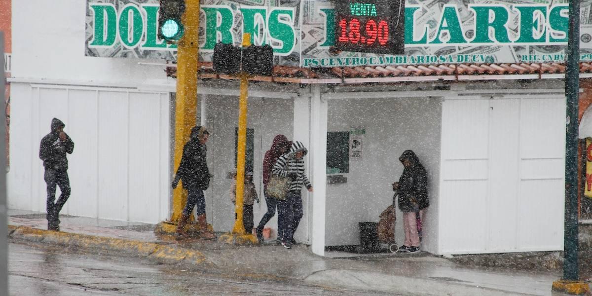Peña Nieto llama a la población a protegerse de las bajas temperaturas