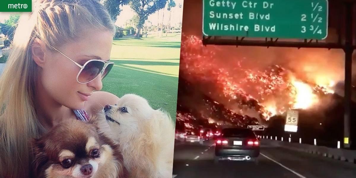 Paris Hilton é resgatada por bombeiros após incêndio na Califórnia