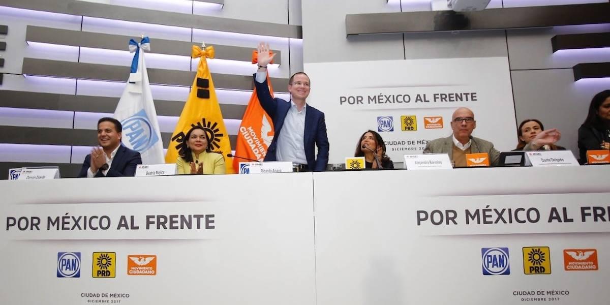 PRD, PAN y MC registran coalición 'Por México al Frente'