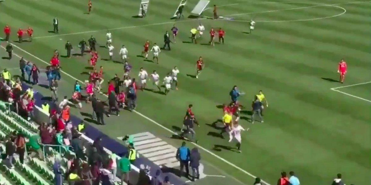 VIDEO: Sub 20 entre Santos y Atlas termina en tremenda pelea campal