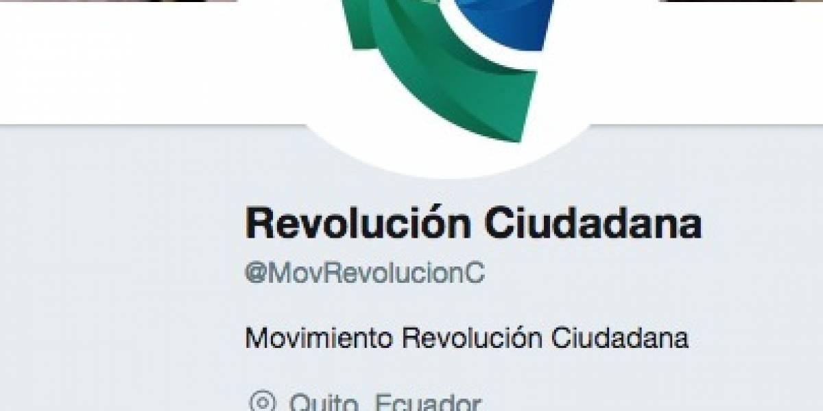 Alianza PAIS cambia su nombre a Revolución Ciudadana en Twitter