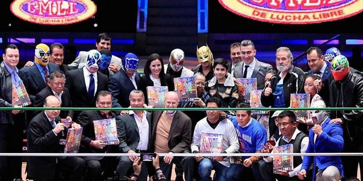 El CMLL presentó el libro de los 85 años de la lucha libre