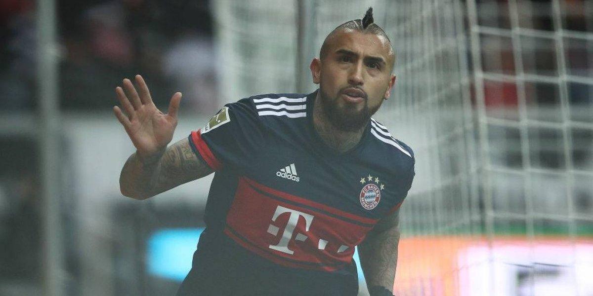 El Rey en racha: Vidal le da un nuevo triunfo al Bayern que sigue sólido en la cima