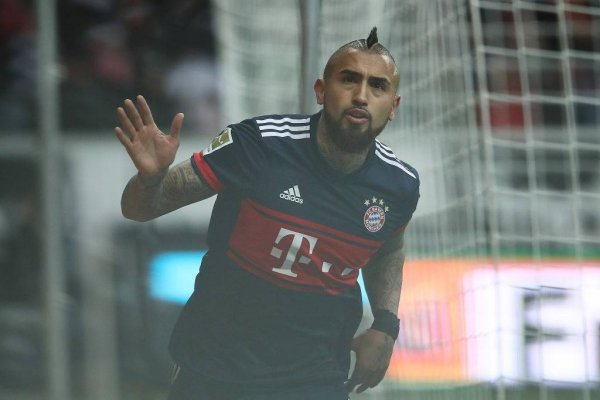 Arturo Vidal celebrando su quinto gol en la actual temporada de la Bundesliga con el Bayern Munich / Foto: Getty Images