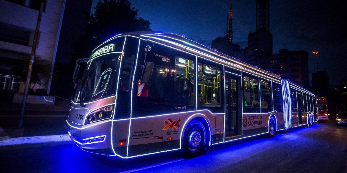 São Paulo terá passeios com ônibus iluminados para o Natal a partir deste sábado