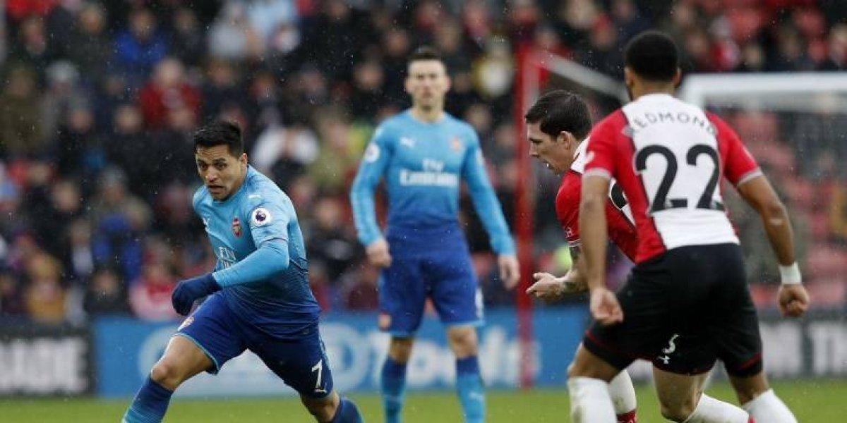 Con asistencia de Alexis Sánchez el Arsenal empata sobre la hora y evita el papelón