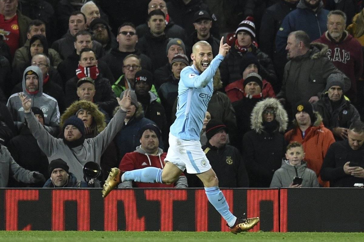 David Silva abrió el marcador para el City.