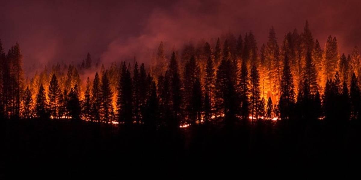 Ventos impulsionam o terceiro maior incêndio da Califórnia