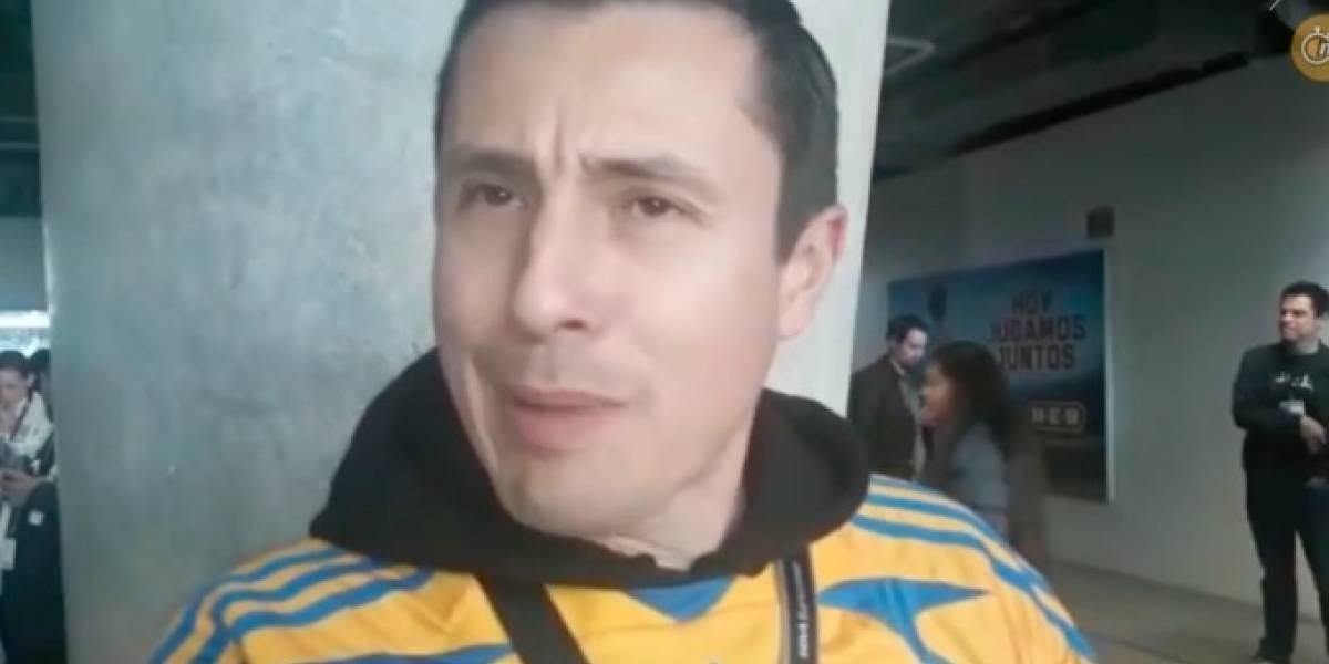 Aficionado de Tigres fue escoltado por policías para entrar a la Final