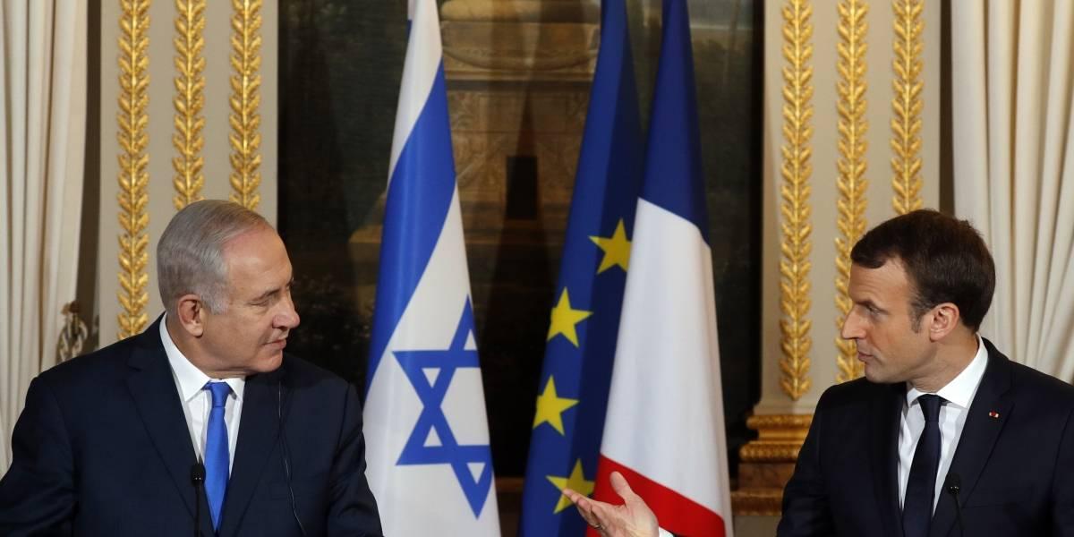 Macron pide a Benjamin Netanyahu 'gestos valientes' para encontrar la paz