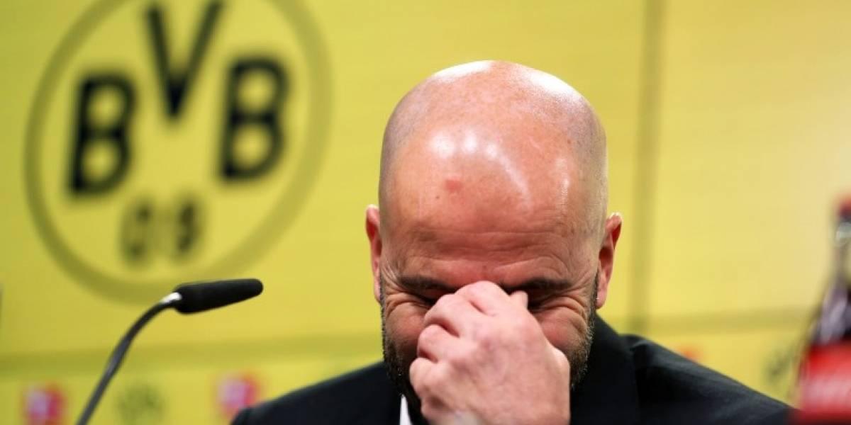 Tras ocho partidos seguidos sin ganar, el Dortmund despide a su entrenador