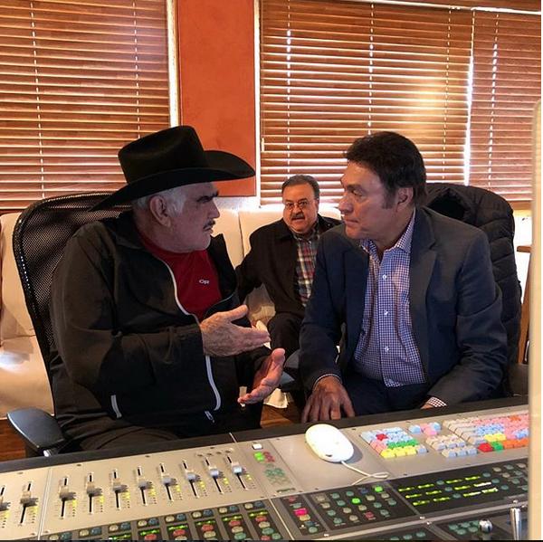 Vicente Fernández y Jorge Hernández se meten al estudio