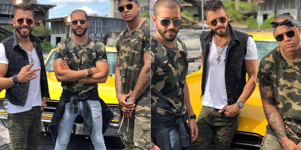 Rafa e Pipo Marques gravam clipe com Léo Santana