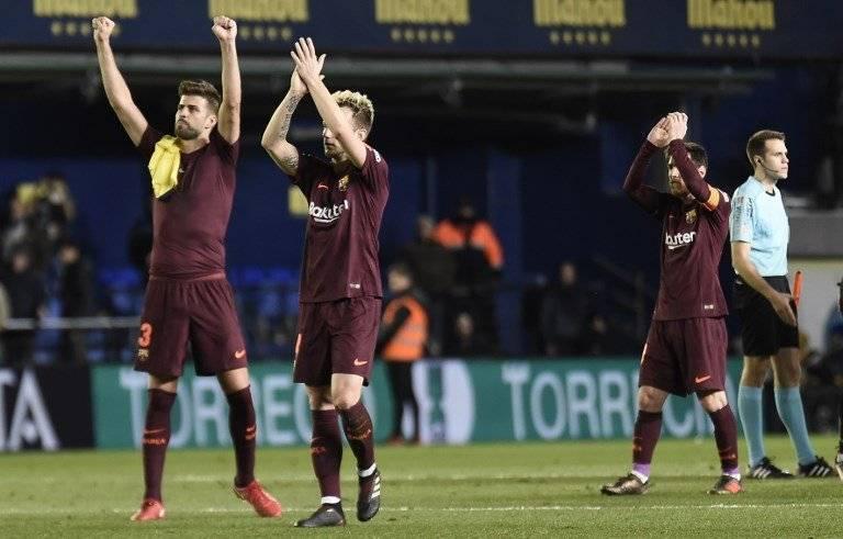 Barcelona celebra ante el Villarreal