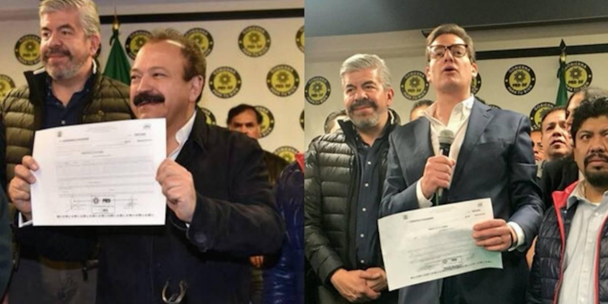 Ahued y Chertorivski se registran como precandidatos del PRD a la CDMX