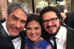 William Bonner, Elizângela e Guilherme Piva