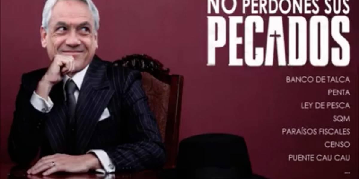 """""""No perdones sus pecados"""": La campaña al estilo """"Perdona nuestros pecados"""" que llama a no votar por Sebastián Piñera"""
