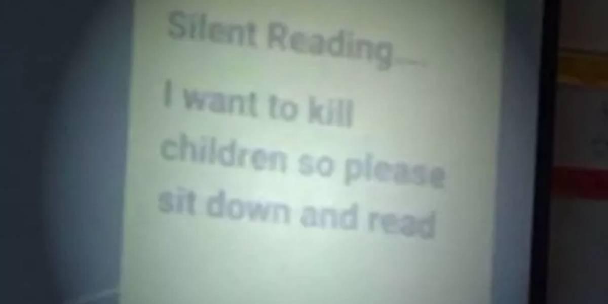 """""""Quiero matar niños"""": el mensaje de profesor a sus alumnos que se volvió viral"""