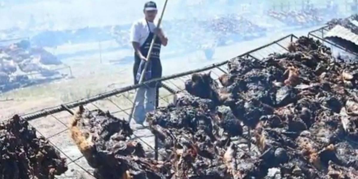 Com 16 toneladas de carne, Uruguai bate recorde de churrasco