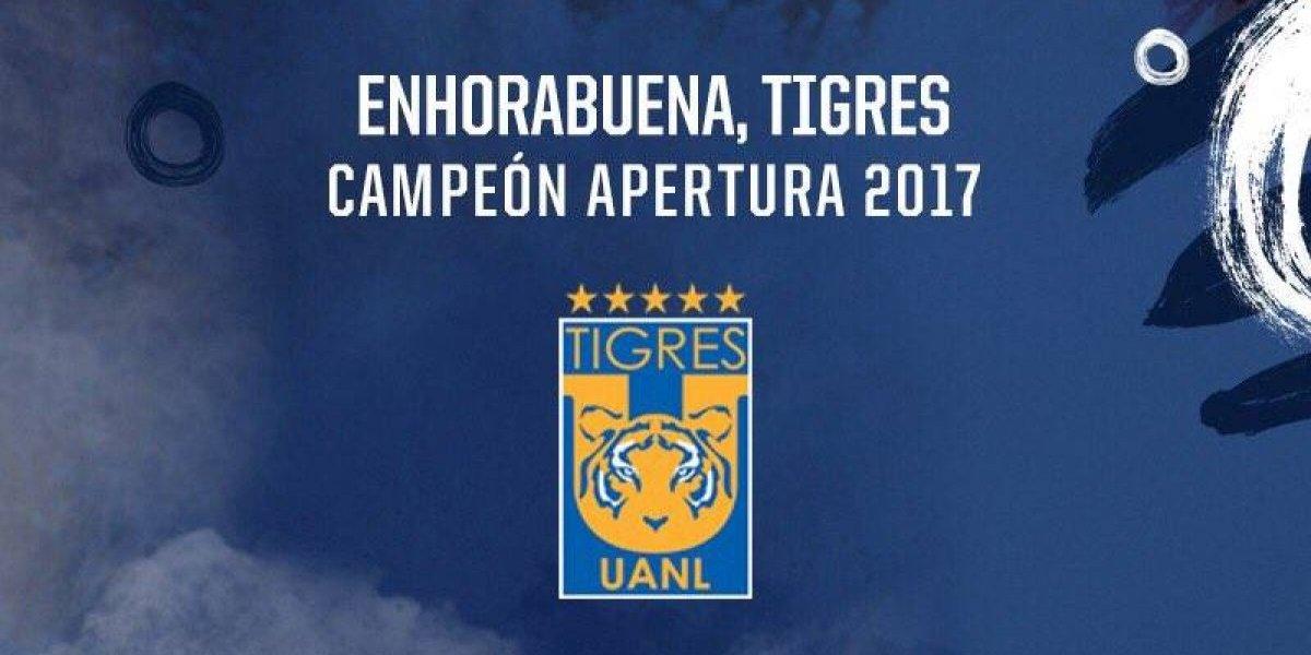 Monterrey felicita a Tigres por el título el Apertura 2017
