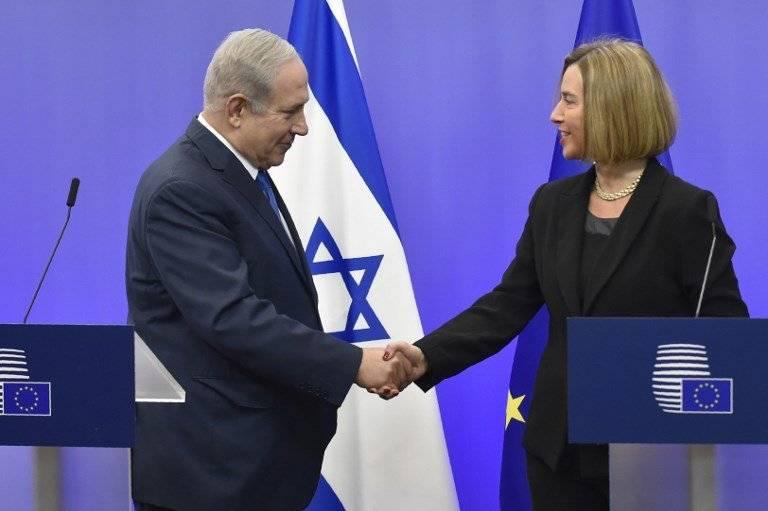 Benjamin Netanyahu y Federica Mogherini